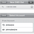 Sending SMS with beejive