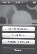 The email Photo button