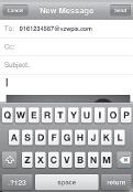 Sending an MMS message to a recipient using Verizon Wireless