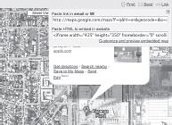 Selecting a Google Maps URL