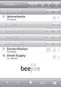 beejive's Jivetalk web application