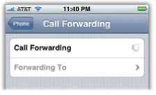 Call Forwarding Screenshot
