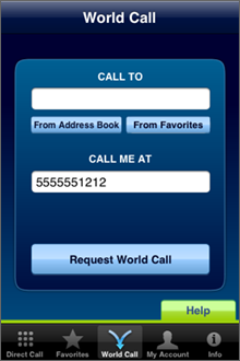 Call Global App Screenshot