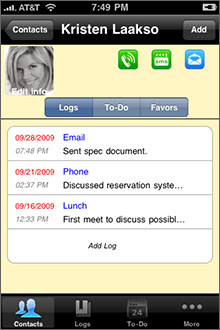 Contacts Journal Screenshot
