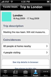 Dopplr Screenshot