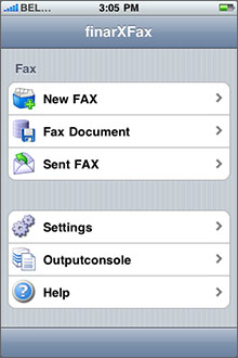 FinarX Fax Screenshot