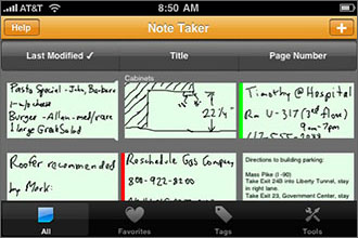 Note Taker Screenshot