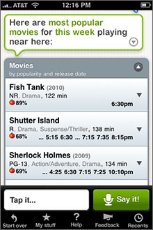 Siri Assistant Screenshot