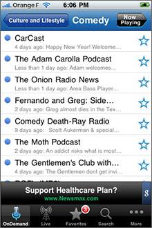 Stitcher Radio Screenshot