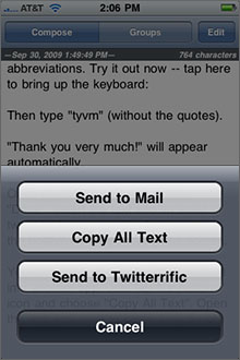 TextExpander Screenshot