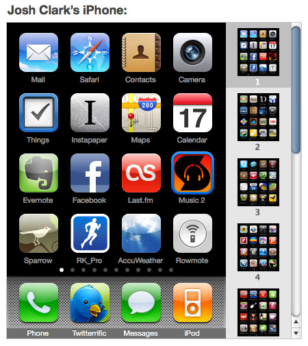 iTunes home-screen organizer