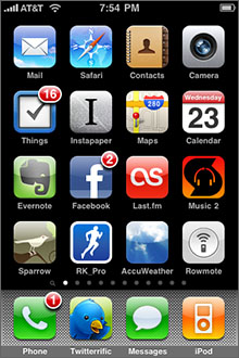 iPhone home-screen screenshot