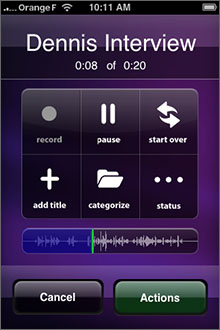 Voxie Pro Recorder Screenshot