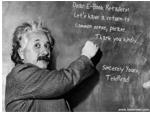 Einstein at the Board