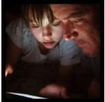 Father and Son Reading Partners