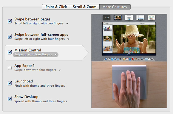 Screenshot from Apple's built-in trackpad tutorial
