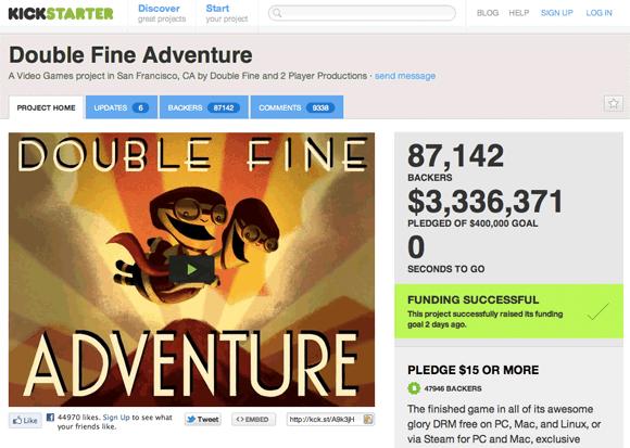 Double Fine Adventure Kickstarter campaign