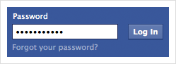 Facebook password field
