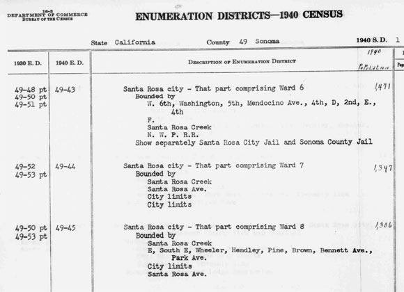 Screenshot from the 1940 Census available through Archives.org