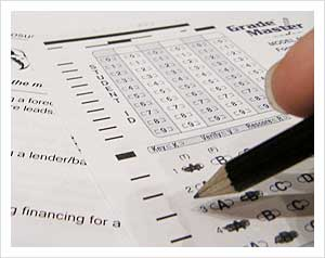 Taking a test at the Real Estate Investing College by Casey Serin, on Flickr