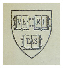 Harvard College Library bookplate with withdrawal stamp by kladcat, on Flickr