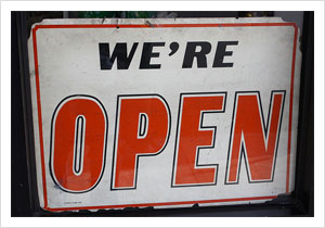 Open Sign by dlofink, on Flickr
