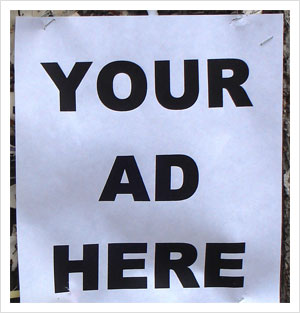 Your Ad Here by KarenLizzie, on Flickr