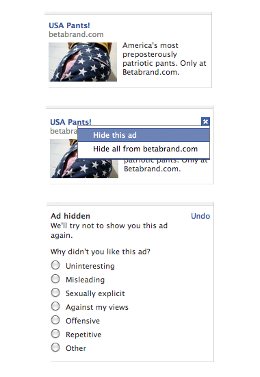 Facebook ad targeting and customization